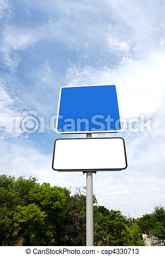 Blank road sign - csp4330713