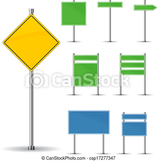 Blank road signs - csp17277347