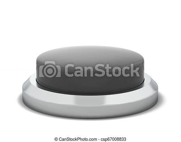 Blank round push button - csp67008833