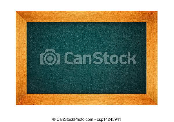 Blank school chalkboard - csp14245941