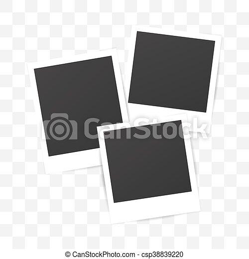 Blank set photo polaroid frame on transparent background blank set photo polaroid frame on transparent background shadow effect for your photography mockup pronofoot35fo Choice Image