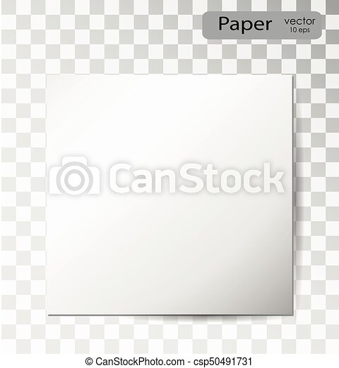 Blank sheet of paper on white background - csp50491731