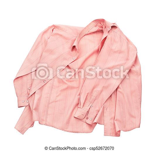 Blank shirt isolated on white background - csp52672070