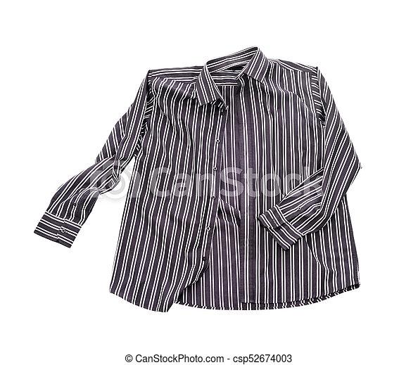 Blank shirt isolated on white background - csp52674003