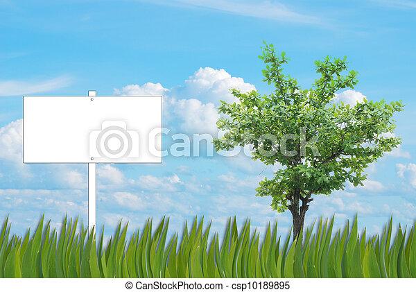blank sign background - csp10189895