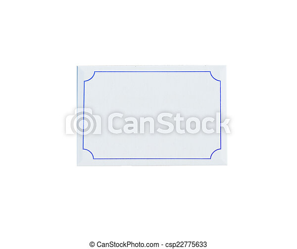 blank sign on white - csp22775633