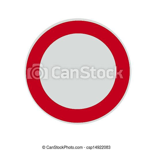 blank sign - csp14922083