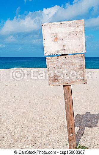 blank sign - csp15003387
