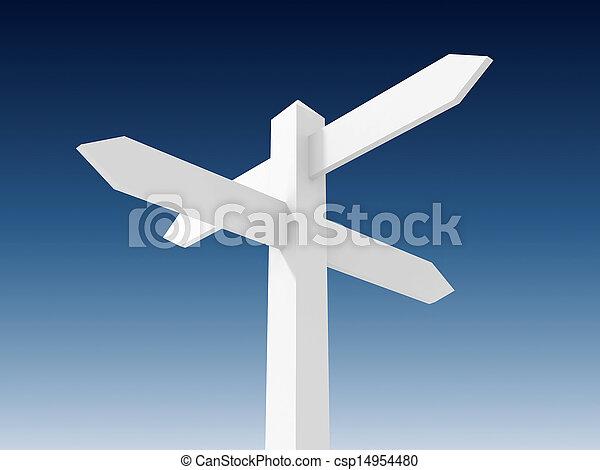 Blank sign post - csp14954480