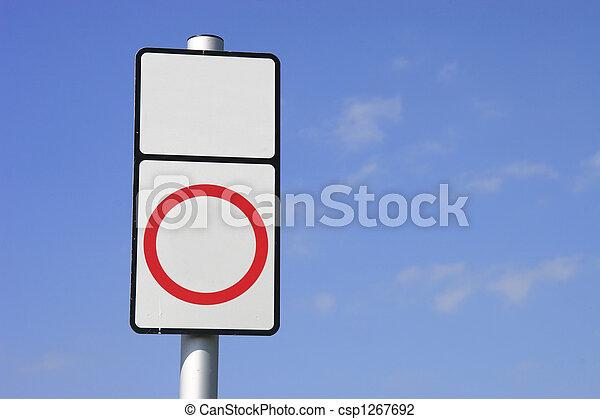 blank sign - csp1267692