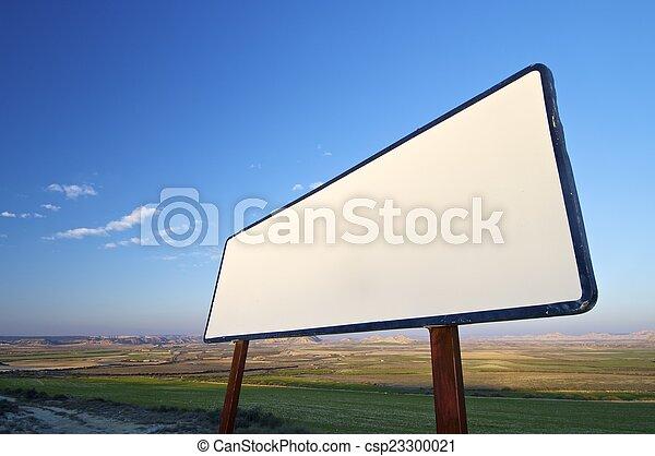 Blank sign - csp23300021