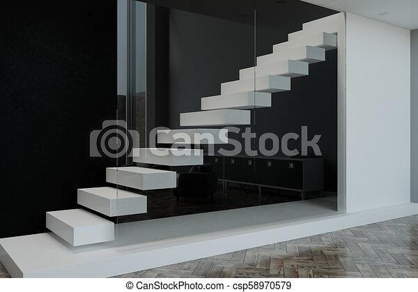 blank slab in modern apartment - csp58970579