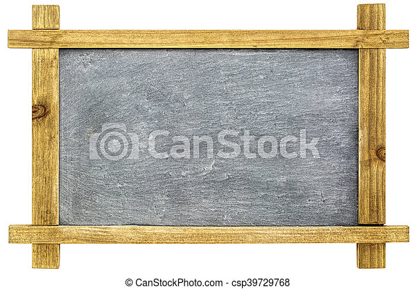 blank sltate blackboard isolated - csp39729768