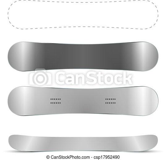 Blank snowboard vector template - csp17952490
