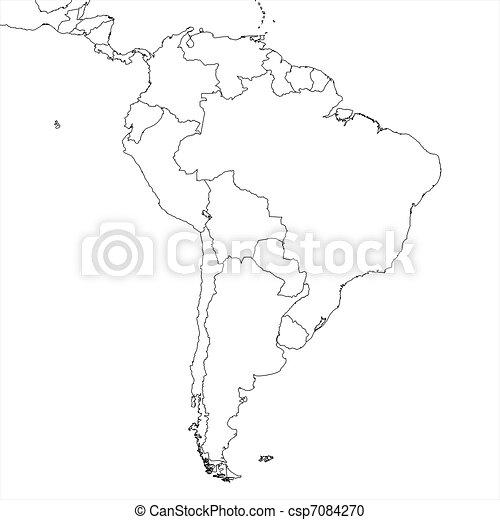 Blank South America Map Blank South American Regional Map In