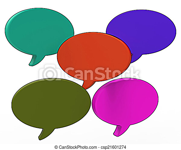 Blank Speech Balloon Shows Copy space For Thought Chat Or Idea - csp21601274