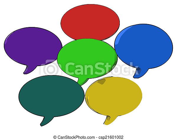 Blank Speech Balloon Shows Copy space For Thought Chat Or Idea - csp21601002