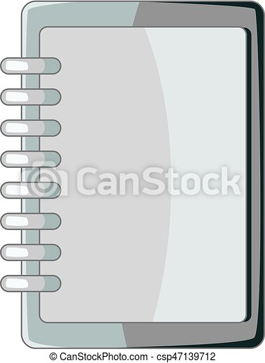 blank spiral notebook icon monochrome blank spiral notebook rh canstockphoto com notebook vector icon notebook vector template