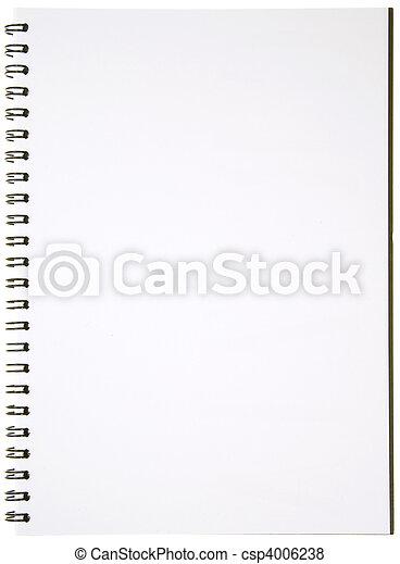 Blank Spiral Notepad - csp4006238