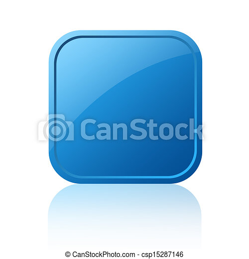 Blank square button - csp15287146