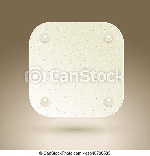Blank square button. - csp40700535