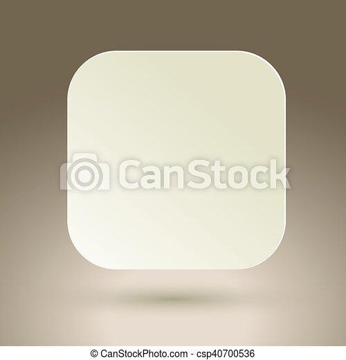 Blank square button. - csp40700536