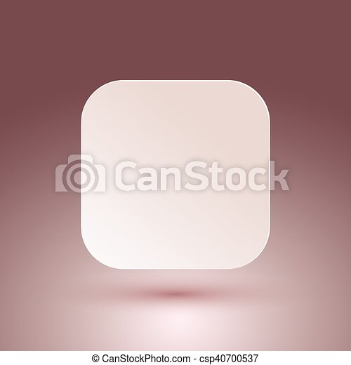 Blank square button. - csp40700537