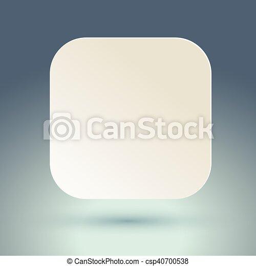 Blank square button. - csp40700538