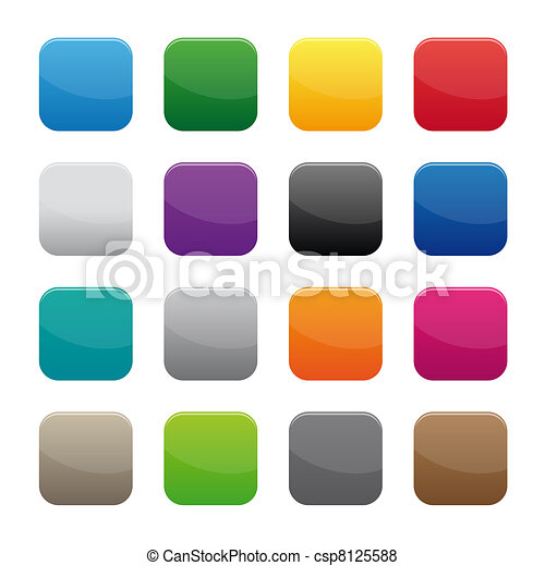 Blank square buttons - csp8125588