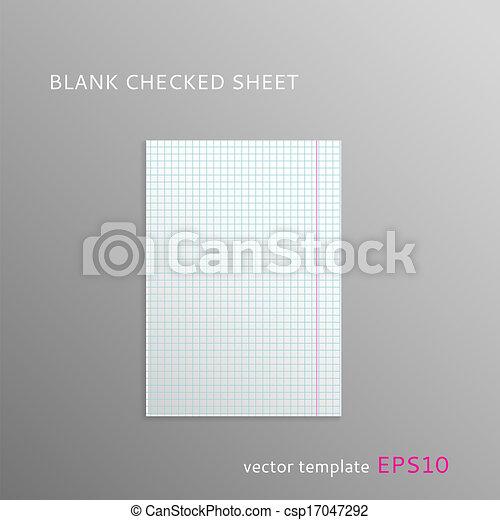 Blank squared paper sheet - csp17047292