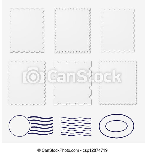 Blank stamps frames - csp12874719