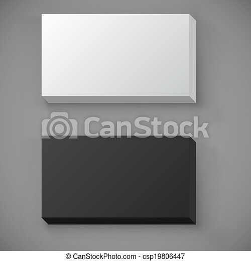 Blank Standard Business Card Stack Template Black And White Blank