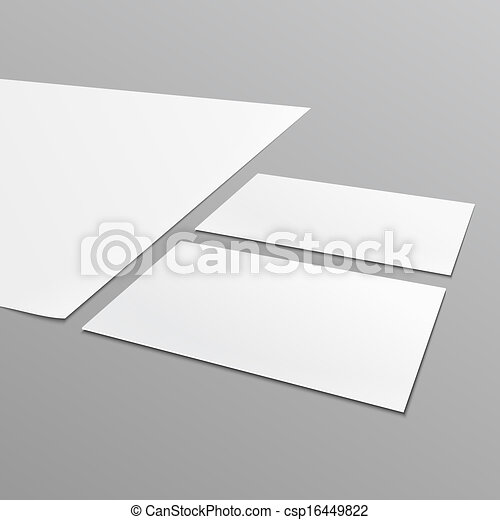 Blank stationery layout a4 paper business card blank vector vector blank stationery layout a4 paper business card csp16449822 reheart Images