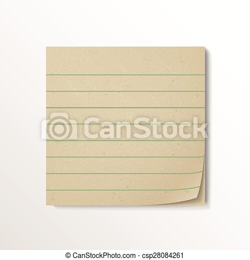 blank stick note paper - csp28084261