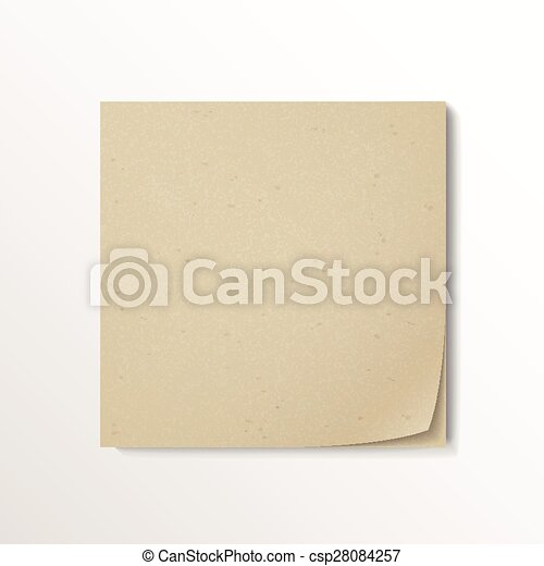blank stick note paper - csp28084257