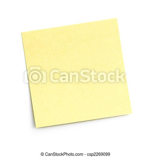 blank sticky note on white - csp2269099