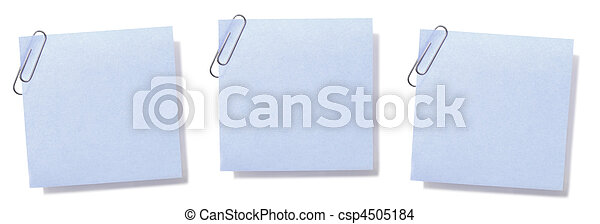Blank Sticky Notes - csp4505184