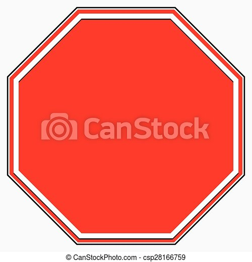blank stop sign blank red octagonal prohibition restriction road sign