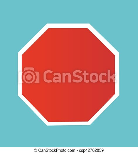 Blank Stop Sign - csp42762859