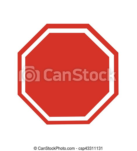 Blank Stop Sign - csp43311131