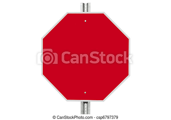 Blank Stop Sign Isolated