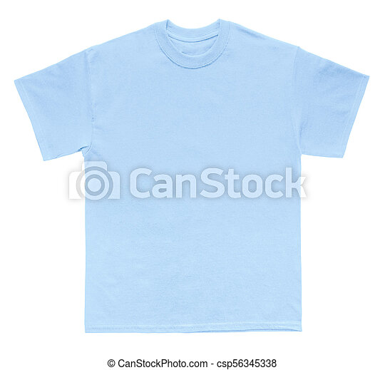 Blank T Shirt Color Light Blue Template