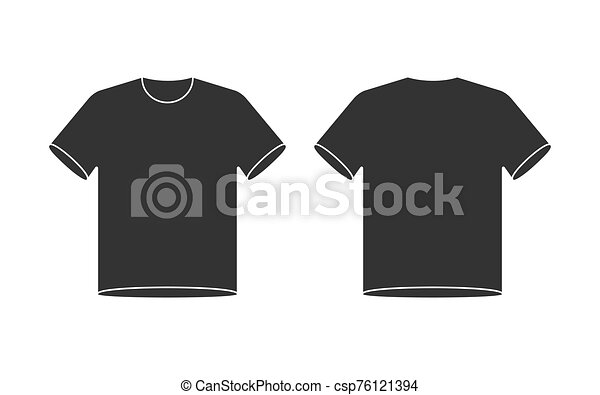 Blank T Shirt Mockup Front And Back View Shirt Template Black