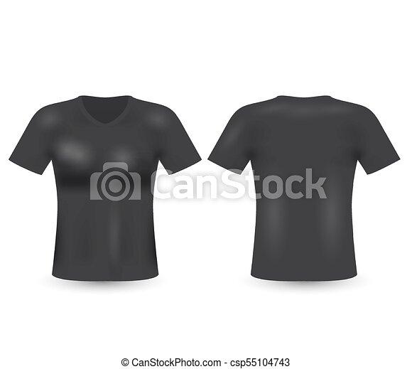 blank t shirt template black t shirt vector