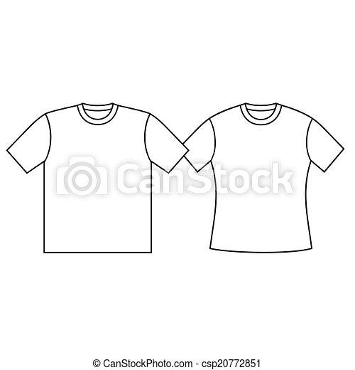 Blank t-shirt template. .