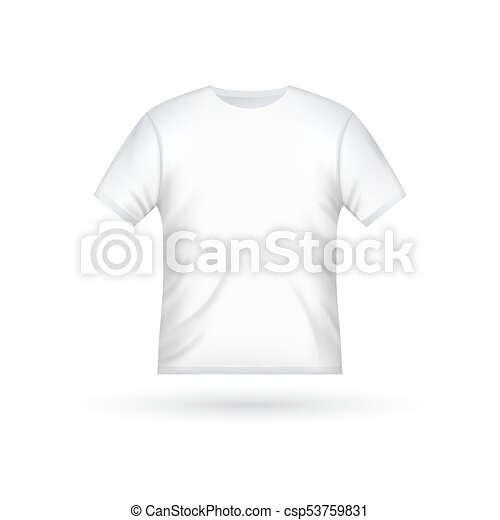 Blank T Shirt Template Clothing Fashion White Design With Sleeve Cotton Uniform