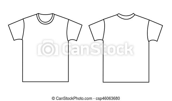 blank t shirt template front and back vector