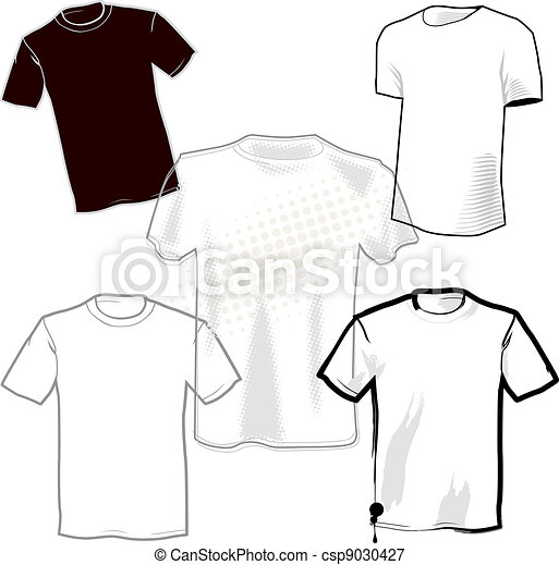 Blank T Shirts 5 Different Shirt Template Designs