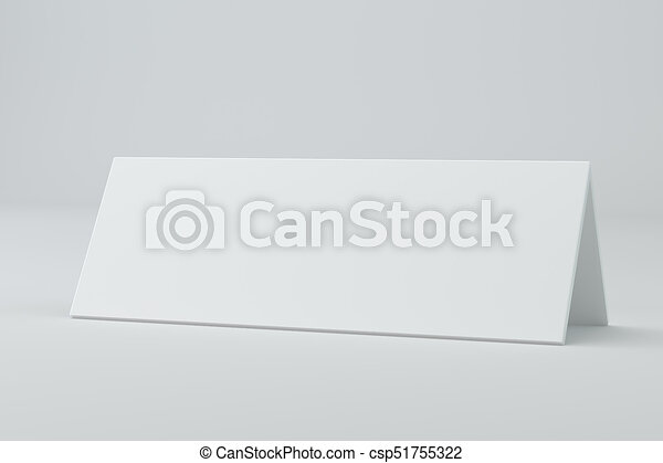 Blank Table Card Sign Template D Rendering Blank Table  Clip
