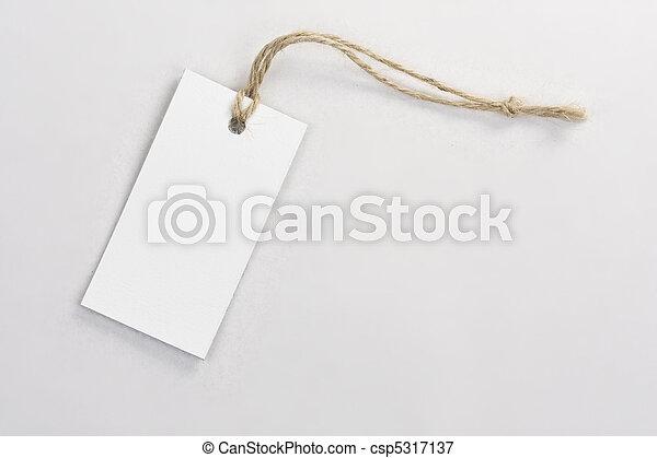 blank tag label - csp5317137